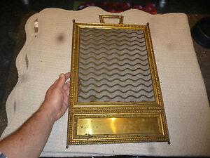ancien cadre grille moustiquaire laiton pare feu de chemin e d coration a cr er ebay. Black Bedroom Furniture Sets. Home Design Ideas