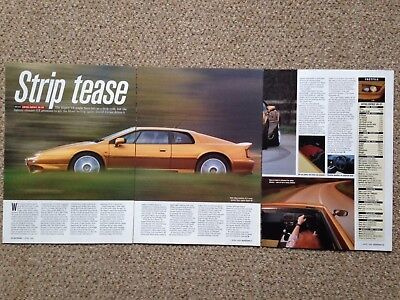 LOTUS ESPRIT V8 GT 1998 - Road Test Article - Autocar Magazine 1998