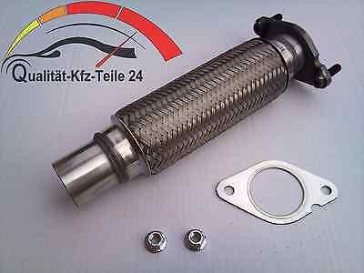 Ø 60 Flexrohr mit Flansch Turboflansch Auspuffrohr Hosenrohr VAG 1.8 Turbo