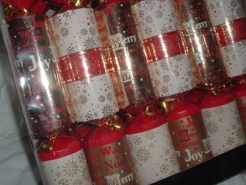 "English Heritage Co Luxury Dinner Christmas Crackers NEW Festive 12"" Set of 12"