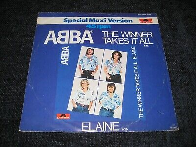 POLYDOR 12 INCH MAXISINGLE ABBA THE WINNER TAKES IT ALL 1980 FRIDA AGNETHA