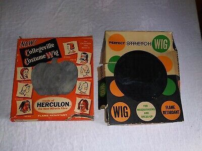 Vintage Halloween Costume Wigs Witch Collegeville Ben Cooper Boxes