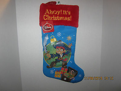 Disney Christmas Stocking  YOHOHO JAKE & THE NEVERLAND PIRATE CREW NEW WITH - Pirate Christmas Stocking