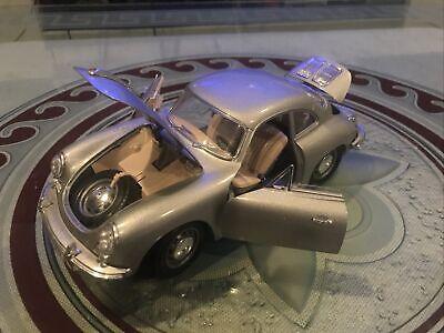 1961 Gray Porsche 356B coupe  diecast 1:18 Burago