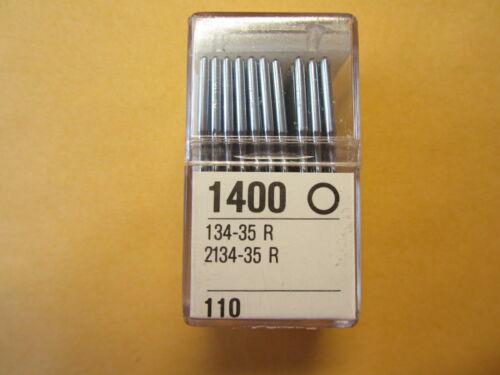 100-134-35 R Cloth Sewing Machine Needles, Durkopp Adler, Pfaff sz. 18