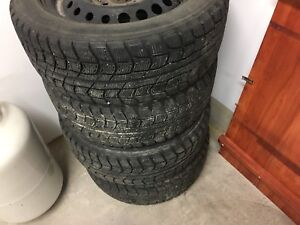 Dunlop 195/55/15 Winter Tires and Steel Rims