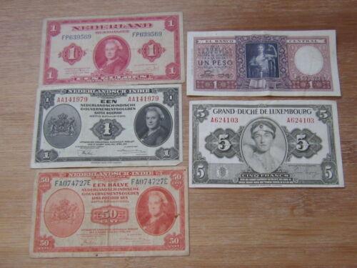 Lot of 5 World Paper Money #2654