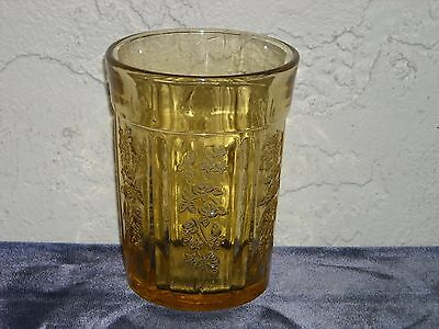 Sharon Cabbage Rose Thick Water Tumbler  Amber