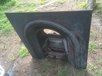 Fireplace Retro Open Gas or Coal Fireplace Antique