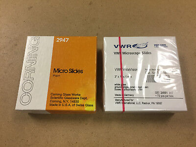 Microscope Slides 3 X 1 X 1mm Boxed Lot Of 2