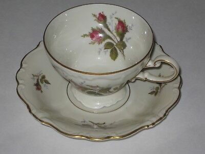 Rosenthal China Moss Rose cup and saucer