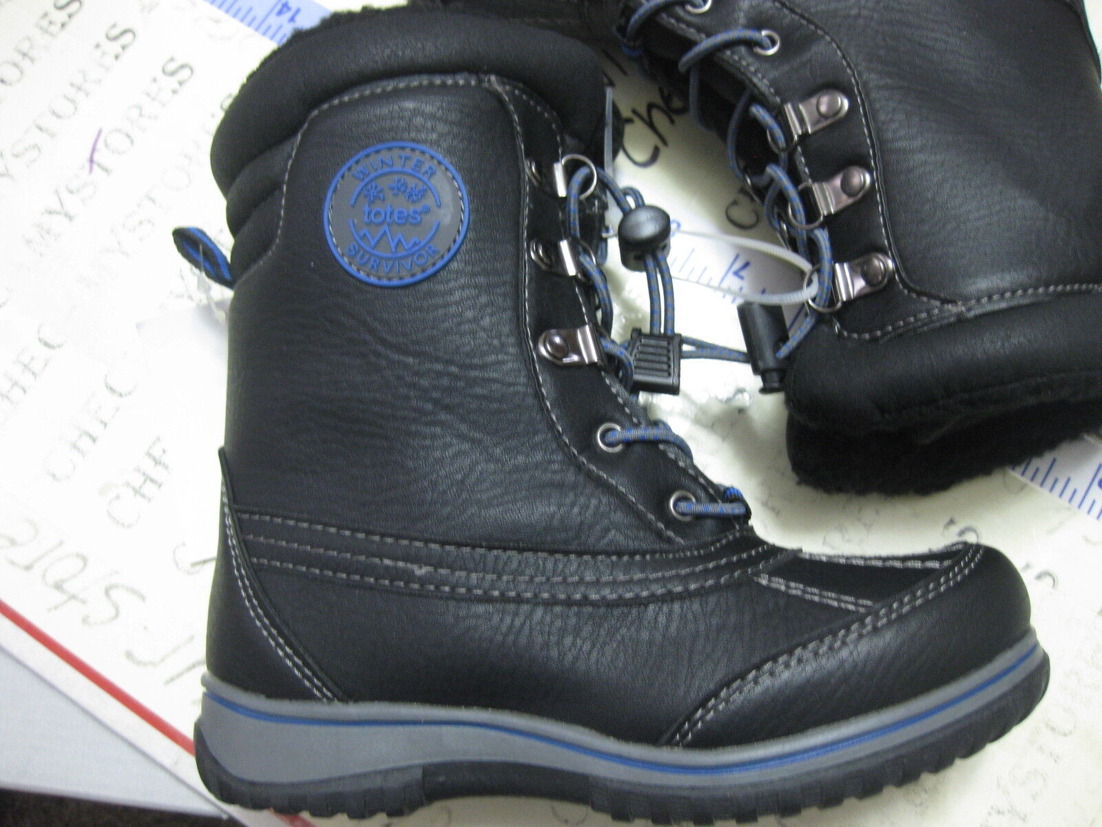 NEW  Boys Totes Kids BARRY Waterproof Boot  THERMOLITE Warm CHOOSE SIZES 1