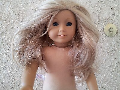 Pretty American Girl Long BLONDE Hair With BLUE Eyes Doll
