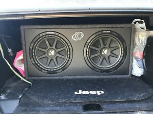 """2 12"""" kicker subs with Prime R500X1D amp"""
