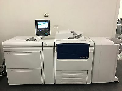 Xerox Color C75 Press Copier Printer Scanner With Exc75 Fiery 300gsm Duplex 345k