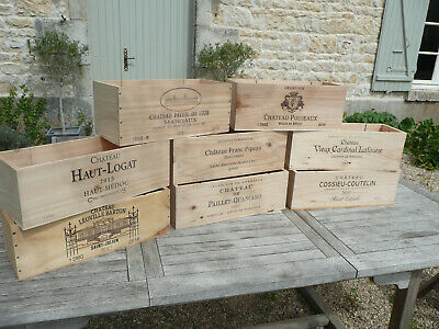 Wooden Wine Box Crate ~ Rare Double Magnum size. French ,Shabby Chic, Vintage.