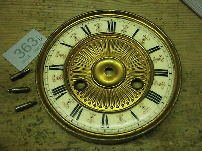 Clock Dial & Brass Bezel Enamel Ring a for German Vienna style wall case spares