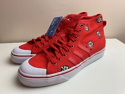 Adidas Originals Nizza Hi Canvas Mens Shoes Red UK 8.5 EUR 42 2/3 CQ2368