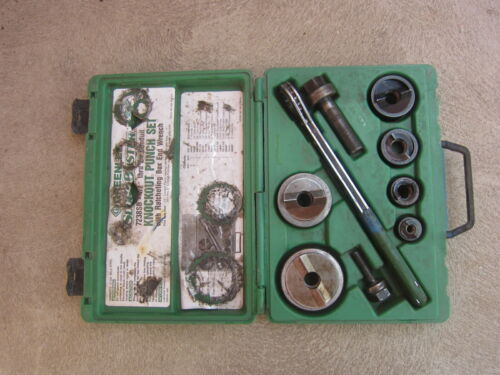"""Greenlee 7238SB ½"""" to 2"""" Conduit Knockout Punch Set, Used"""