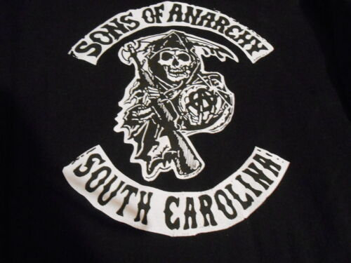 SONS OF ANARCHY  APPAREL MENS BLACK HOODIE SWEATSHIRT, LARGE,THICK MATERIAL