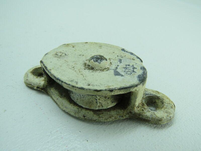 (#140) 1+1/2 INCH  WILCOX CRITTENDEN GALVANIZED STEEL DECK PULLEY BLOCK TACKLE