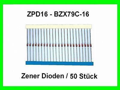10x Zenerdiode 10V 500mW DO35 axial gegurtet