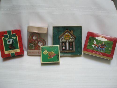 Hallmark Keepsake, Tree Trimmer Collectors Christmas Ornaments, Lot 5, Vintage
