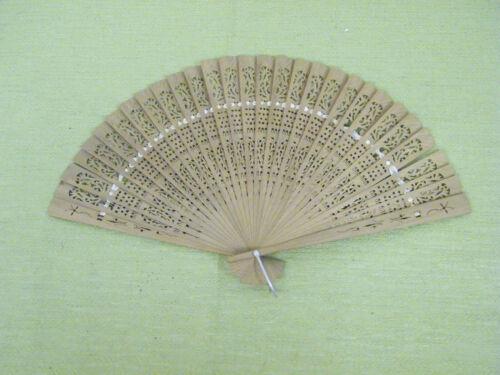 Vintage Beautiful Hand Held Ladies Fan, Decorative Fan, Wooden