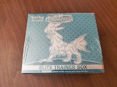 Pokemon TCG Sun & Moon Crimson Invasion Elite Trainer Box Factory Sealed