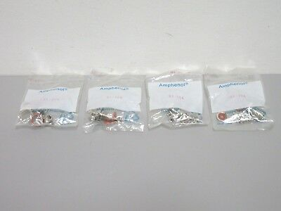 Lot Of 4 New Amphenol 31-206 Bnc Clamp Bulkhead Jacks