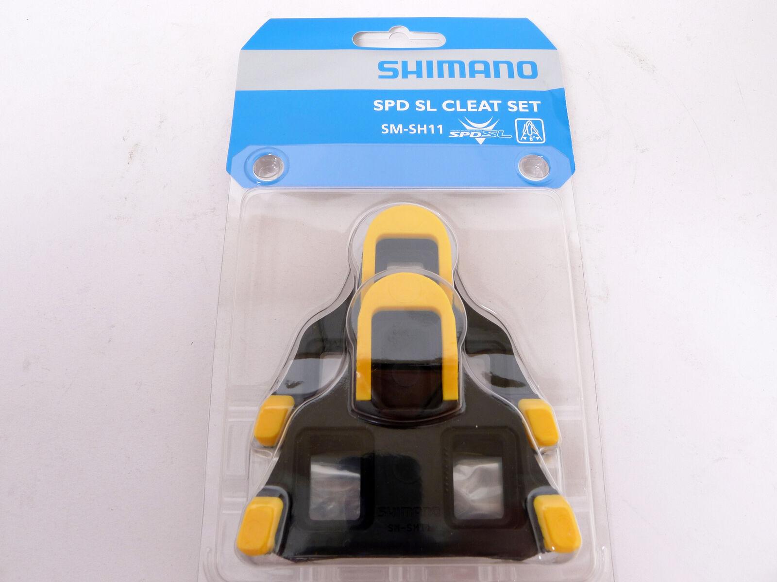 Shimano SPD-SL Road Pedal Cleats 6-degrees Float fits 105 Ultegra SM-SH11