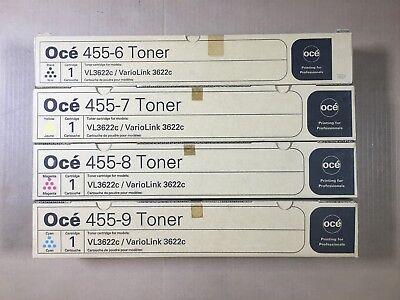 Genuine Oce 455-9 455-8 455-7 455-6 Cmyk Toner Set For Variolink 3622c