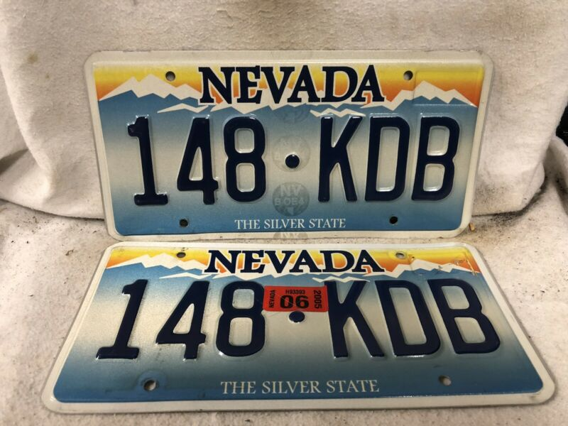 2005 Nevada License Plate Pair