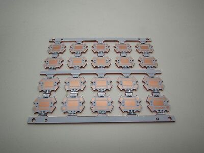 20mm Copper Heat Sink Base Plate Pcb Circuit Board For Luminus Sst-90 Sst90 Led