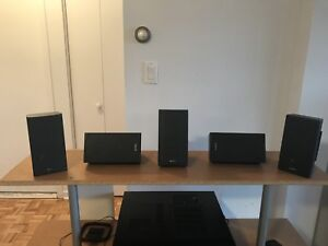 Home theatre surround sound speakers/subwoofer/receiver for sale