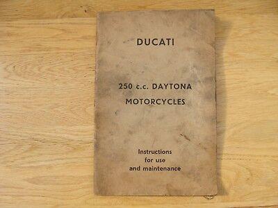 ORIGINAL SPANISH DUCATI 250 c.c. DAYTONA MOTORCYCLE INSTRUCTIONS FOR USE