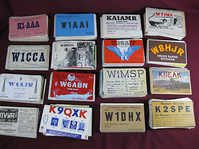 Over 1000 QSL Ham Radio Cards, 1950's to 1980's, Mostly New England, Read Descri