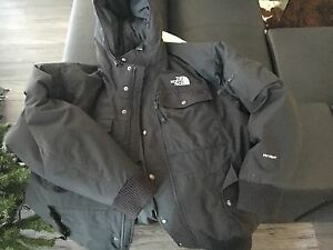 Black North Face Hyvent Down Fill Bomber jacket