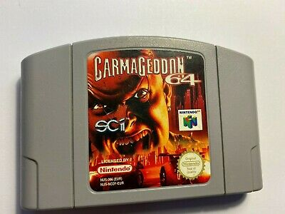 CARMAGEDDON 64 Game for N64 NINTENDO 64 CARTRIDGE ONLY - TESTED & WORKING