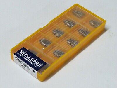 10 Pcs Mitsubishi Carbide Inserts Aomt 123608peer-m Grade Vp15tf