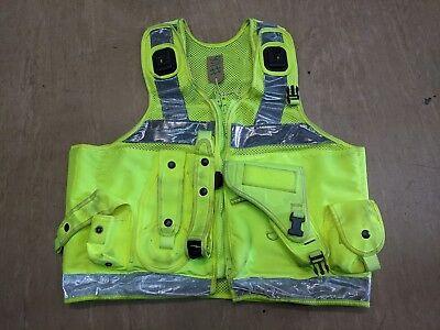 Hi Vis Tactical Security Law Enforcement Taser Pouch Vest Size Large UK #106