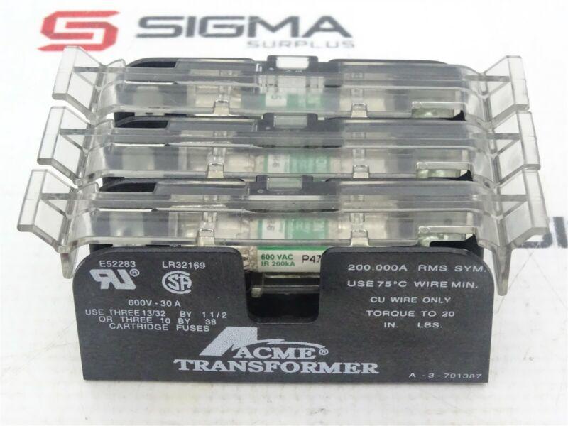 Acme Transformer LR32169 Fuse Holder 3-Pole 600V 30A