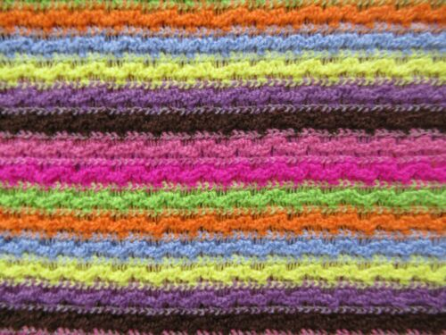 Vintage Textured Stretch Fabric 5 Yards Rainbow Colors