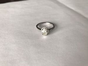 1.17 carat Oval Halo Engagement Ring