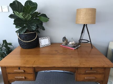 Antique Tasmanian Blackwood Large Desk