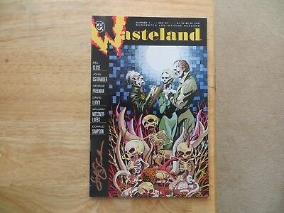 1987 VINTAGE DC WASTELAND # 1  SIGNED BY JOHN OSTRANDER WITH POA