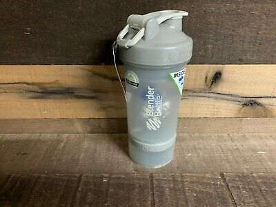 Blender Bottle ProStak Pro Be verifiable Protein Shaker Cup Grey NEW