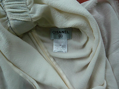 Chanel robe dos nu en crêpe de soie dress sublime ! t 38