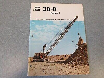 Rare Bucyrus-erie 38-b Crane Excavator Sales Brochure 1970