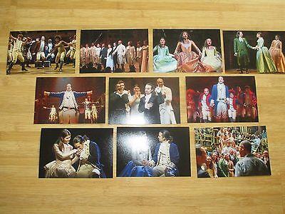 NEW HAMILTON BROADWAY MUSICAL NYC CAST 10 PHOTO SET Lin Manuel Miranda